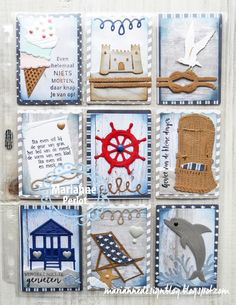 Atc Cards, Paper Cards, New Pen, Beach Cards, Pocket Letters, Marianne Design, Pocket Cards, Artist Trading Cards, Box Frames