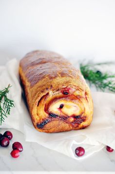 christmas recipe: cranberry brioche
