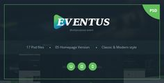 Eventus - Multipurpose Event PSD Templates by qtcmedia  Eventus is a Clean & Modern Templates for events and conferences, or any types of events such as Conferences, Festival, Ultra music, Tour & Business. The Event also has design feasibility to selling tickets. The features like Get