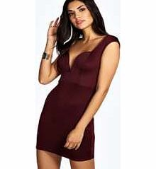 boohoo Plunge Cap Sleeve Bodycon Dress - berry azz18028 Look drop dead gorgeous on the dance floor in this figure-hugging bodycon dress , featuring a sweetheart neck for that statement twist! Well be wearing it with skyscraper heels , an envelope clutch an http://www.comparestoreprices.co.uk/dresses/boohoo-plunge-cap-sleeve-bodycon-dress--berry-azz18028.asp