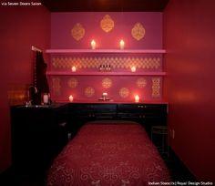Boring Bathroom Be Gone! 10 Bathroom Makeover Ideas using Wall Stencils from Royal Design Studio