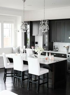 My next kitchen - Black and White - Georgica Pond