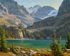 Clyde Aspevig Painting Lake O'Hara