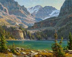 Clyde Aspevig Painting Lake O'Hara