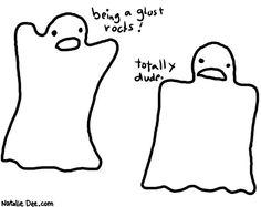 Comic by Natalie Dee: ghosts
