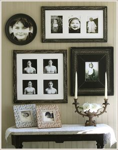 Collage Series 30 Set - Obrien and Schridde Designs Collage Frames, Photo Wall Collage, Collage Ideas, Black Photo Frames, Photo Arrangement, Decorating With Pictures, Decorating Ideas, Picture Frame Sets, Photo Layouts
