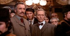 Icons. Christopher Lee and Peter Cushing in Horror Express.