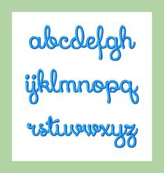 "Machine Embroidery Design - 2"" letters - upper and lower case plus numbers You MUST have an embroidery machine and the software needed to transfer it from your"