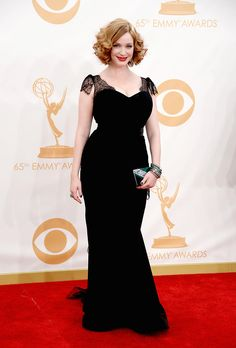 Christina Hendricks arrives at the 65th Annual Primetime Emmy Awards held at Nokia Theatre L.A. Live on September 22