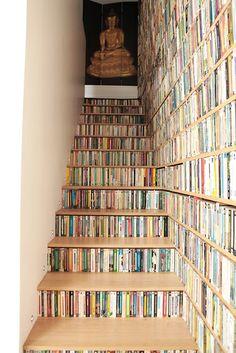 escalier bibliotheque belle occupation d l'espace
