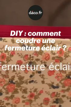 Apprenez à coudre une fermeture éclair sur un tissu grâce à notre tuto vidéo. Rassurez-vous, c'est facilement réalisable quel que soit votre niveau, et en même pas 15 minutes ; alors à vos aiguilles ! Diy, Couture, Learn To Sew, How To Sew, Toile, Fabric, Bricolage, Do It Yourself, Haute Couture