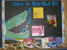 Take a bite our of ...alligators and crocodiles. Library Displays