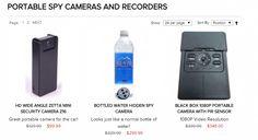 Spy Store, Hidden Camera, Spy Camera, Mini Bottles, Black Box, Security Camera, Wide Angle, Cameras, Water Bottle