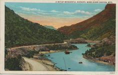 Wyoming 1930's Postcard. Hagins collection.