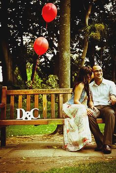 Engagement pic, at FV park on the bench where we would sit an talk for hours :)