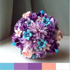 Trendy Origami Paper Bouquet and matching Wedding Invitation ...