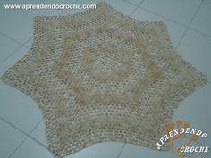 Tapete de Crochê Barroco - Sala/Quarto - Tapetes e Toalhas - Aprendendo Croche