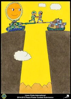2014-15 Lions Clubs International Peace Poster Competition submission from Beijing Bo Ya Lions Club in China