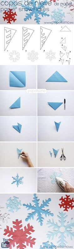 come fare i fiocchi di neve fiocchi di neve di carta di carta