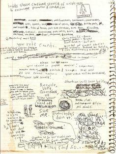 Excerpt from Kurt Cobain's journal