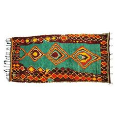 """Check out this item at One Kings Lane! Moroccan Wool Azilal Rug, 4'4"""" x 9'4"""""""