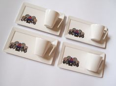 Set of four espresso cups  Modern house in the от ZuppaAtelier, $80.00