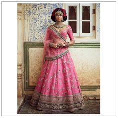 Where To Buy Sabyasachi Lehenga Online? Here Is The Answer! Sabyasachi Lehenga Online, Sabyasachi Designer, Bollywood Lehenga, Pink Lehenga, Lehenga Blouse, Bridal Lehenga Choli, Indian Lehenga, Sari, Anarkali Gown