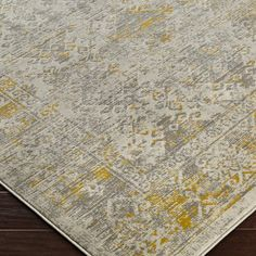 Bungalow Rose Anil Yellow/Gray Area Rug & Reviews | Wayfair Teal Yellow Grey, Grey Yellow Kitchen, Yellow Gray Bedroom, Blue Carpet Bedroom, Grey And Yellow Living Room, Silver Grey Rug, Yellow Rugs, Grey Family Rooms, Rug Under Bed