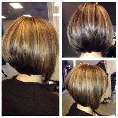 Stacked bob hairstyles in Different