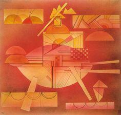Kandinsky - In the Heavy Red (Im schweren Rot), 1928