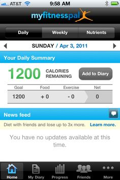 My Fitness Pal iPhone app...♥ it