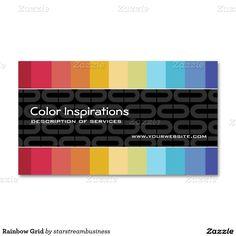 rainbow grid business card