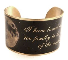 Stars Love Quote Brass Quote Bracelet, Sarah Williams,Moon Jewelry, Astronomy by accessoreads on Etsy https://www.etsy.com/listing/122793908/stars-love-quote-brass-quote-bracelet
