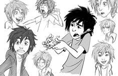 Jin Kim desenhando os personagens de Big Hero 6! | THECAB - The Concept Art Blog