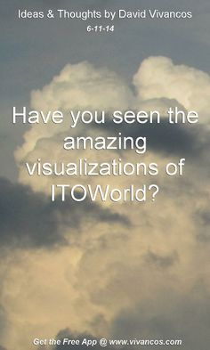 "June 11th 2014 Idea, ""Have you seen the amazing visualizations of ITOWorld?""  https://www.youtube.com/watch?v=AQSvCJ7Bfd4 http://www.itoworld.com/static/visualisations.html"