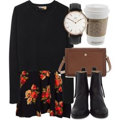 Untitled #5217 by laurenmboot on Polyvore featuring Topshop, Organic by John Patrick, Acne Studios, Zara and Daniel Wellington