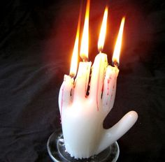 Spooky Hand Candle