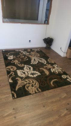 """These are really nice floral design area rugs.They're authentic easy to clean and water repellentthat give a natural modern texture to any modern home decor idea. They come insizes 2' x 3' ft, 5' x 7' ft ,7'6"""" x 10'3"""",4' x 5'4"""" ft, 2' x 7'5"""" http://rugaddiction.com/collections/natural/products/beautiful-grand-floral-area-rug-in-black-with-touch-of-brown"""