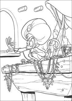 Fargelegging Aladdin. Tegninger 22