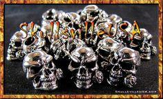 Skullsville USA - Skull beads in pewter, acrylic, bone, and more