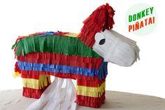 DIY Children's : DIY PULL-STRING DONKEY PIÑATA