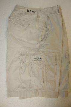 Ralph Lauren Polo Jeans Co Bone Daddy Tan RL 67 (Mens 32) Cargo Shorts 2695 #PoloRalphLauren #CargoShorts #MensWear