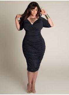 Ambrosia Dress in Black... Thanks Igigi! Curvy girls get to be glam. I have so many Igigi dresses my husband wants stock!
