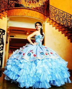 See more thoughts about Quinceanera Find the ideal quinceanera dresses in your area! Find quinceanera dresses as well as where to get them! Puffy Dresses, Quince Dresses, Sweet 16 Dresses, Mexican Quinceanera Dresses, Mexican Dresses, 15 Birthday Dresses, 18th Birthday Dress, Xv Dress, 15 Anos Dresses