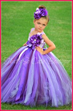 (Jason) It's not in white but we can special order it in white and make the flowers and headband parts orange Purple Fantasy Flower Girl Tutu Dress