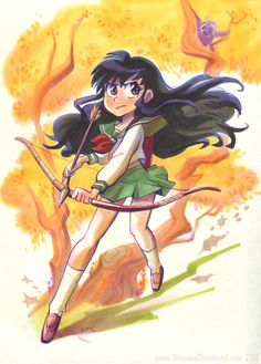 Kagome ready to shot. found on Brianne Drouhard's tumbl page