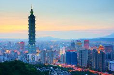 Taipei, Taiwan - Early night view of Taipei 101 (by Places Around The World, Oh The Places You'll Go, Places To Travel, Around The Worlds, Travel Destinations, Taiwan Travel, Asia Travel, Beach Travel, Taipei 101