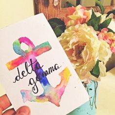 This original Delta Gamma watercolor printable wall art design is the perfect addition to any home or office!  100% of every penny you spend