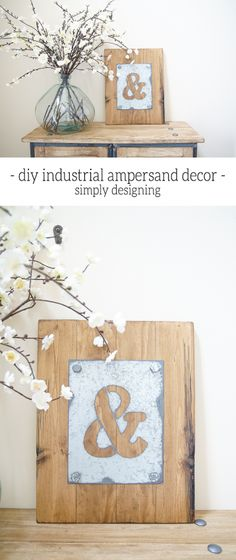 This DIY Industrial Ampersand Decor is so simple and inexpensive to make! I created it for just $14 and with a few supplies! Check it out and pin for later!