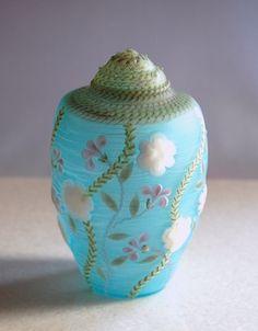 雪輪花唐草模様貝形飾瓶 - コアガラスの器ー佐藤透